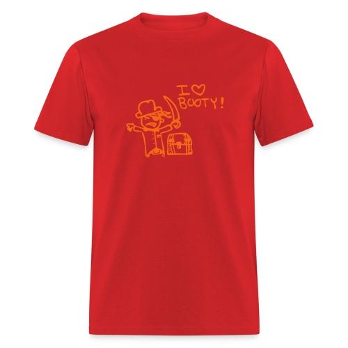 I love booty! - Men's T-Shirt