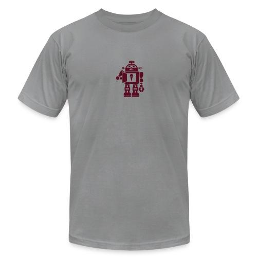 Ice Cream Robot [Maroon on AA Lt Grey] - Men's Fine Jersey T-Shirt