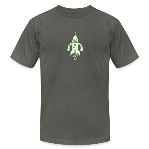 Astrobot [Glow on AA Asphalt] - Men's Fine Jersey T-Shirt
