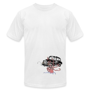 Men's AA T-Shirt - Taxi Cab & Giant Squid - Men's T-Shirt by American Apparel