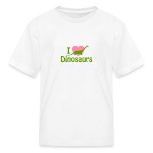 I love Dinosaurs - Kids' T-Shirt