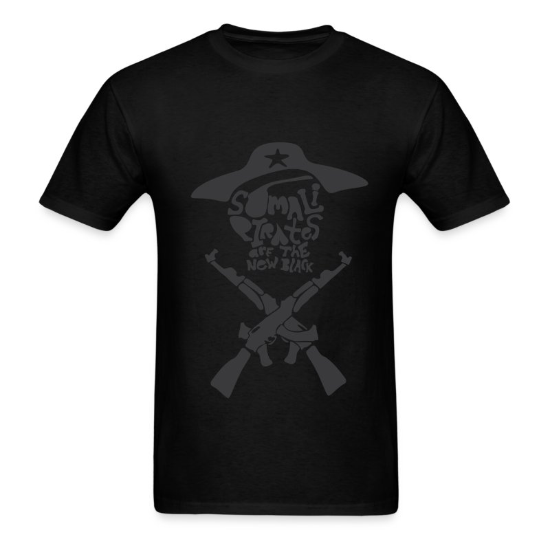 Somali Pirates (Guy's Black) - Men's T-Shirt