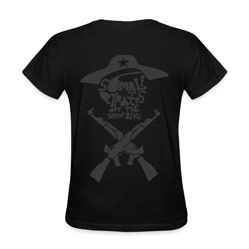 Somali Pirates (Girl's Black) - Women's T-Shirt