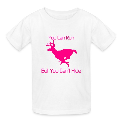 You can run but you can't hide pink kids - Kids' T-Shirt