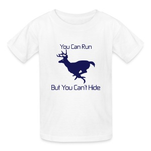 You can run but you can't hide pink blue kids - Kids' T-Shirt