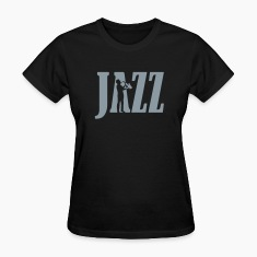 Black jazz_2 Women's T-Shirts