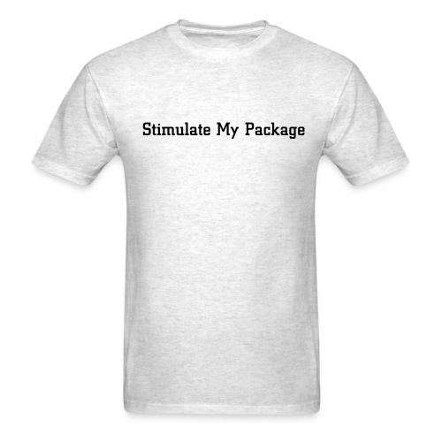 Stimulate My Package - Mens Tee - Men's T-Shirt