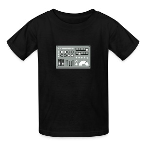 Kidbot [Grey/Wht on Blk] - Kids' T-Shirt