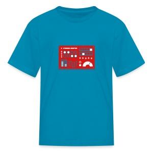 Kidbot [Red/Wht on Orange] - Kids' T-Shirt