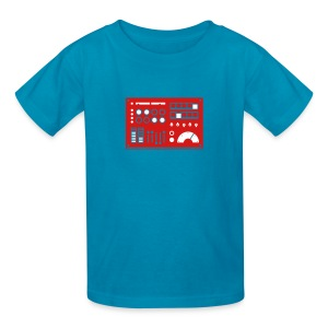 Kidbot [Red/Wht on Orange] - Kids' T-Shirt