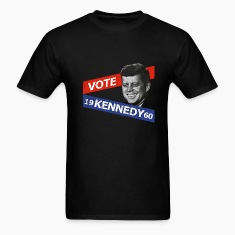 Black JFK Kennedy Retro  T-Shirts