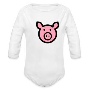 Oink - Long Sleeve Baby Bodysuit