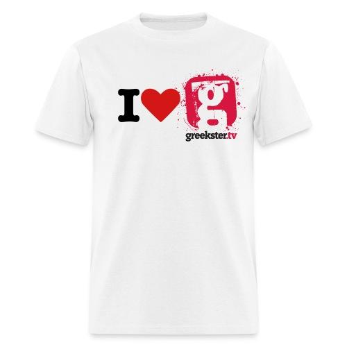 I love Greekster TV - Men's T-Shirt
