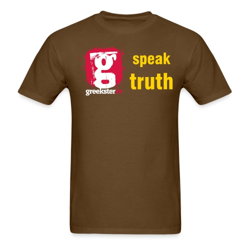 Greekster TV we speak the truth - Men's T-Shirt