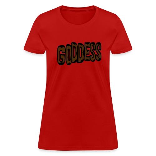 WUBT 'Goddess, Animal Print' Women's Standard Tee, Red - Women's T-Shirt
