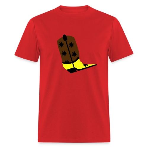 WUBT 'Cowboy Boot' Men's Standard Tee, Red - Men's T-Shirt