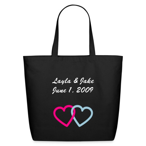 'Personalized Wedding Date' Eco-Friendly Tote - Eco-Friendly Cotton Tote