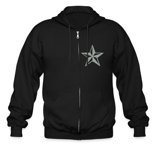 Never give up never back down hoodie - Men's Zip Hoodie