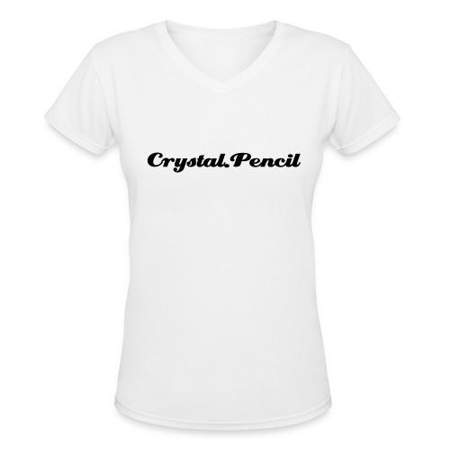crystal pencil Hoodie - Women's V-Neck T-Shirt