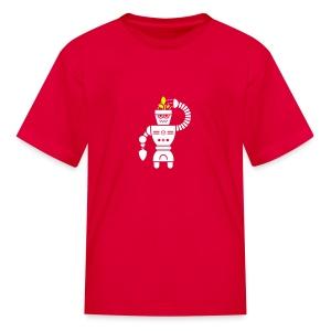 GrowBot [Wht on Red] - Kids' T-Shirt