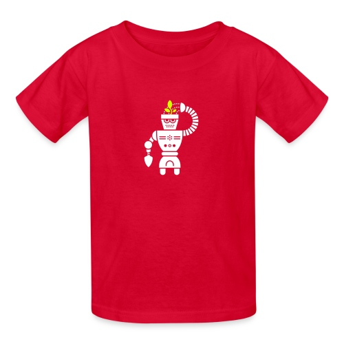 GrowBot [Wht on Red] - Kids' T-Shirt