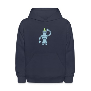 GrowBot [Lt Blu on Navy] - Kids' Hoodie