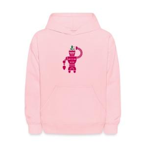 GrowBot [Magenta on Pink] - Kids' Hoodie