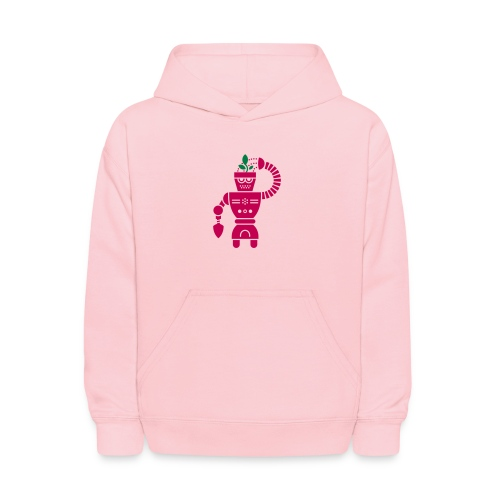 GrowBot [Magenta on Pink] - Kids' Hoodie