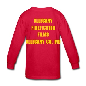 Allegany Firefighter Films Kids Long Sleeve T-Shirt - Kids' Long Sleeve T-Shirt