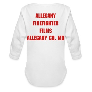 Allegany Firefighter Films Long Sleeve One Piece - Long Sleeve Baby Bodysuit