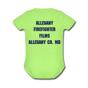 Allegany Firefighter Films Babys Short Sleeve One Piece - Short Sleeve Baby Bodysuit
