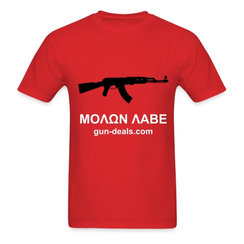 Red AK Graphic - Men's T-Shirt