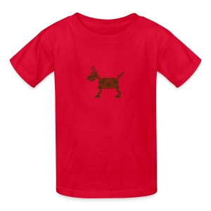RoverBot [Brn on Red] - Kids' T-Shirt