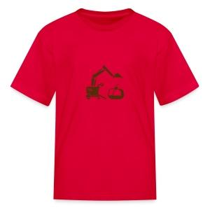 Ice Cream Scoop [Brn on Red] - Kids' T-Shirt