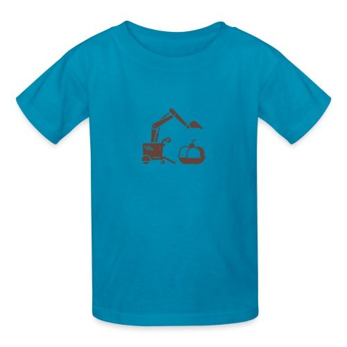 Ice Cream Scoop [Fuzzy Brn on Pink] - Kids' T-Shirt
