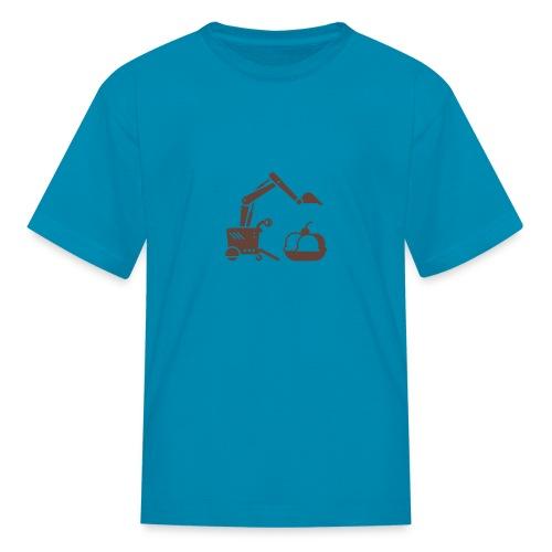 Ice Cream Scoop [Fuzzy Brn on Pink] - Kids' T-Shirt