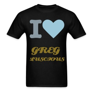 MENS BASIC I LOVE GREG LUSCIOUS T - Men's T-Shirt