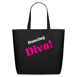 Dancing Diva Blk/Hot Pink Tote - Eco-Friendly Cotton Tote