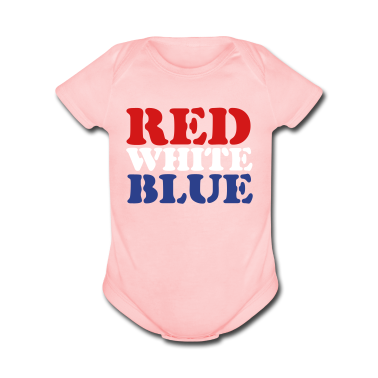 Light pink Red White Blue Baby Body