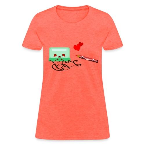 cassette love pencil - Women's T-Shirt