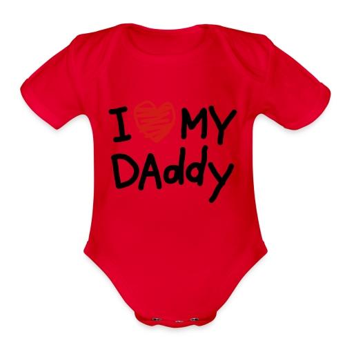i love my husband:) - Organic Short Sleeve Baby Bodysuit