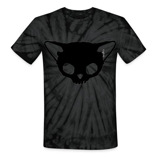 Black Cat Skull Tie dye - Unisex Tie Dye T-Shirt