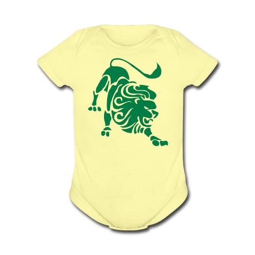 First Roar. - Organic Short Sleeve Baby Bodysuit