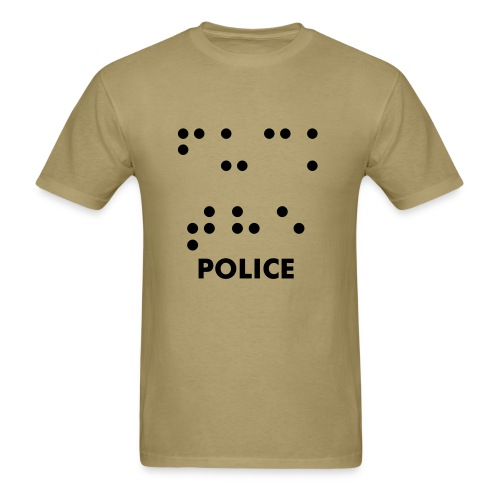 f@%k the police in braille - Men's T-Shirt