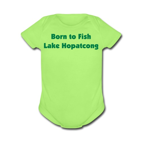 Born to Fish Lake H - Organic Short Sleeve Baby Bodysuit