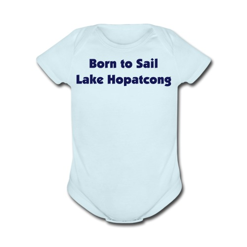 Born to Sail Lake H - Organic Short Sleeve Baby Bodysuit