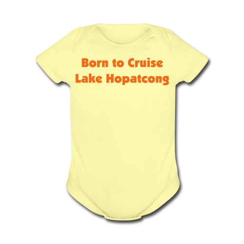 Born to Cruise Lake H - Organic Short Sleeve Baby Bodysuit