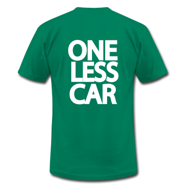 Kelly green One Less Car Biker  T-Shirts