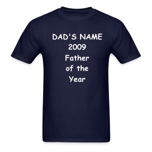 Personalized Father of the Year  - Men's T-Shirt