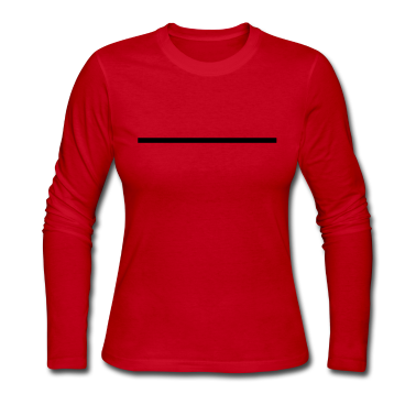 Red Horizontal Line Long Sleeve Shirts